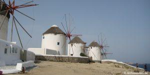 Mykonos, Naxos und Santorini